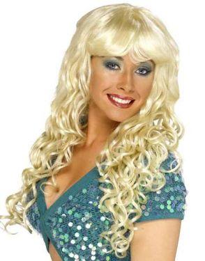 Ladies Fancy Dress Siren Wig - Blonde